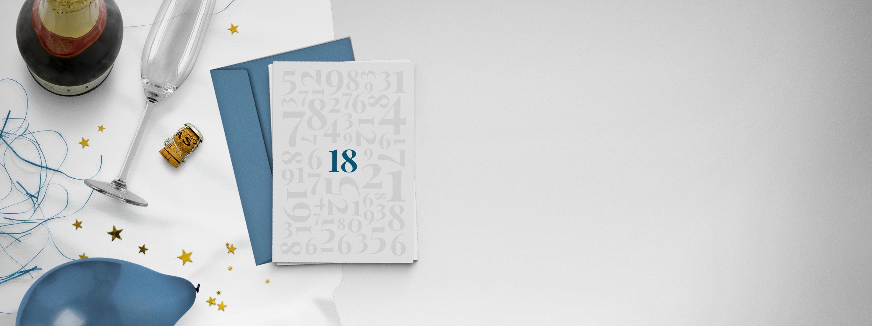 Einladungskarten 18. Geburtstag