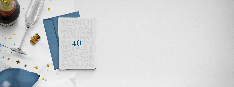 Einladungskarten 40. Geburtstag