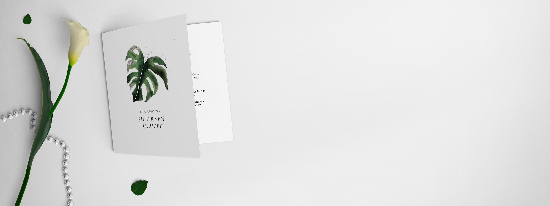 Einladungskarten zur Silberhochzeit