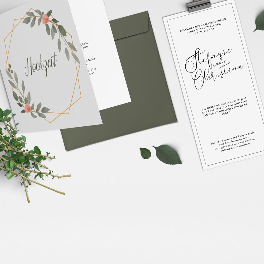 Alle Hochzeitskarten