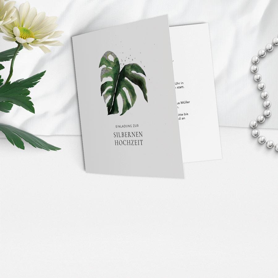 Karten zur Silberhochzeit