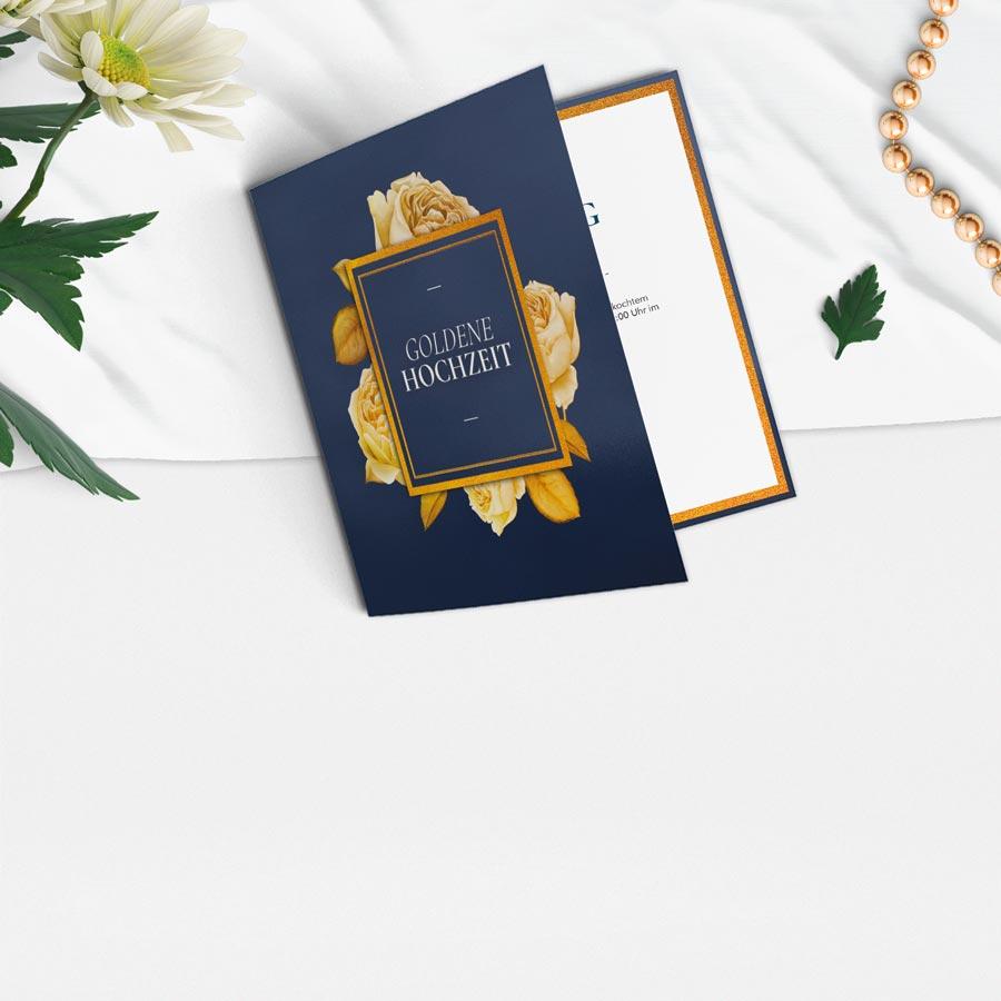 Karten zur Goldenen Hochzeit