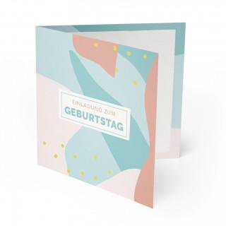 Geburtstagseinladung - Farbklecks