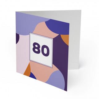 Einladung 80. Geburtstag - Farbkleckse