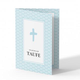 Einladungskarten zur Taufe - Taufe Wellen
