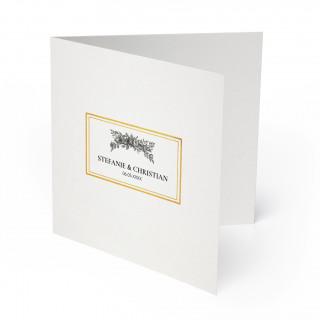 Hochzeitskarten - Weiß Gold