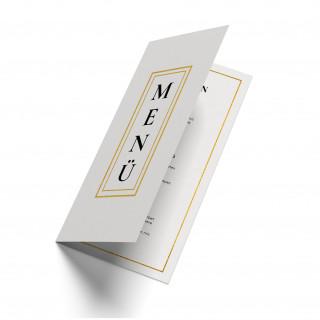 Hochzeit Menükarten - Weiß Gold