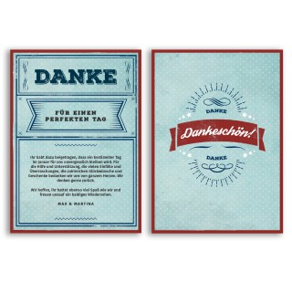 Danksagungskarten - Vintage