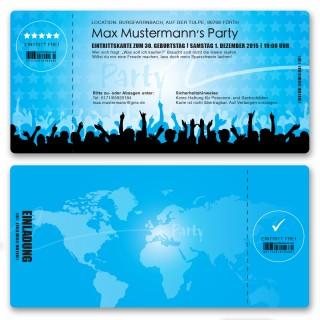Einladungskarten als Eintrittskarte - Festival Blau
