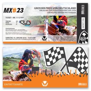 Einladungskarten als Motocrossticket