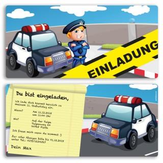 Einladungskarten - Polizei