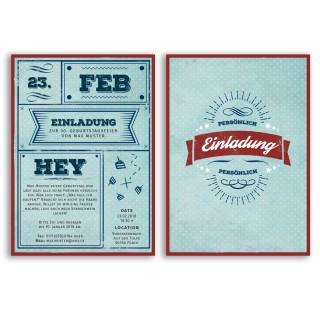 Einladungskarten - Vintage