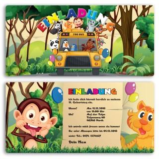 Einladungskarten - Zoo