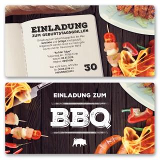 Einladungskarten zum BBQ