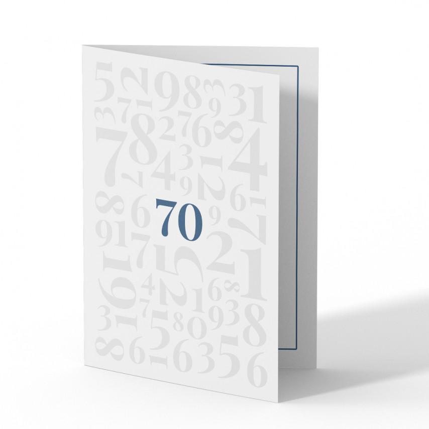 Einladung 70. Geburtstag - Zahlen