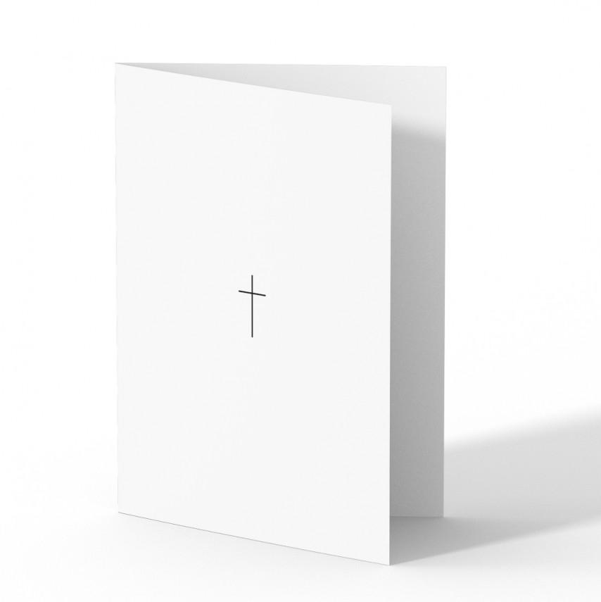 Trauer Danksagungskarten - Kleines Kreuz