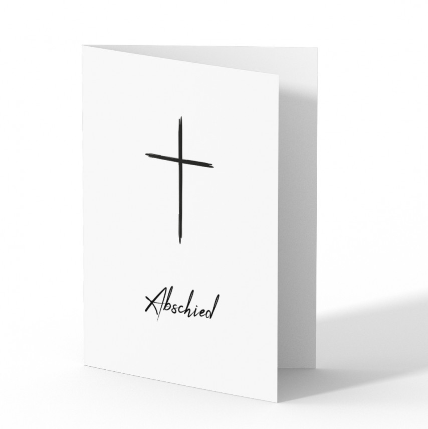 Trauerkarten - Kreuz
