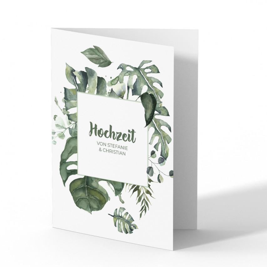 Einladungen zur Hochzeit - Dschungel
