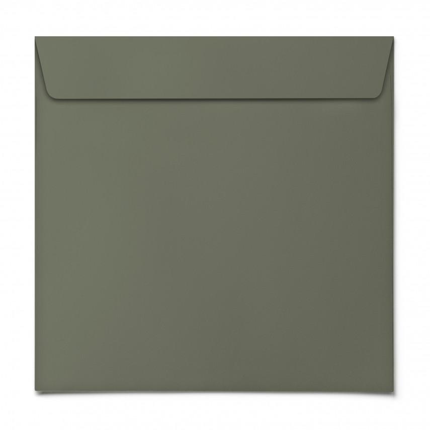Briefumschläge - Moosgrün - Quadrat