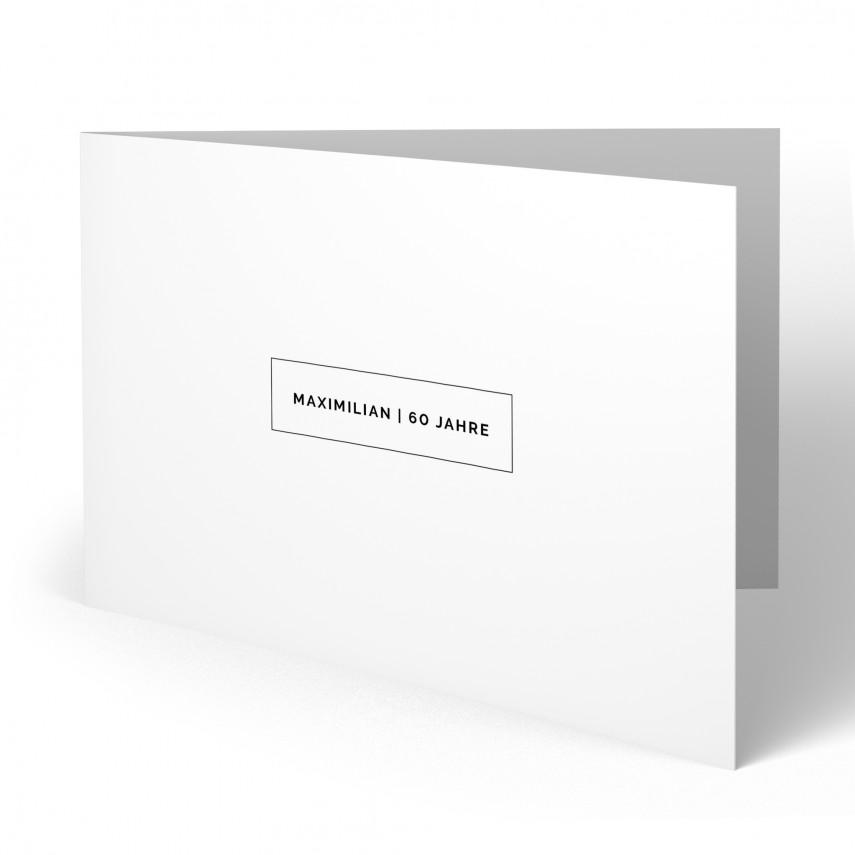 Einladung 60. Geburtstag - Schlicht