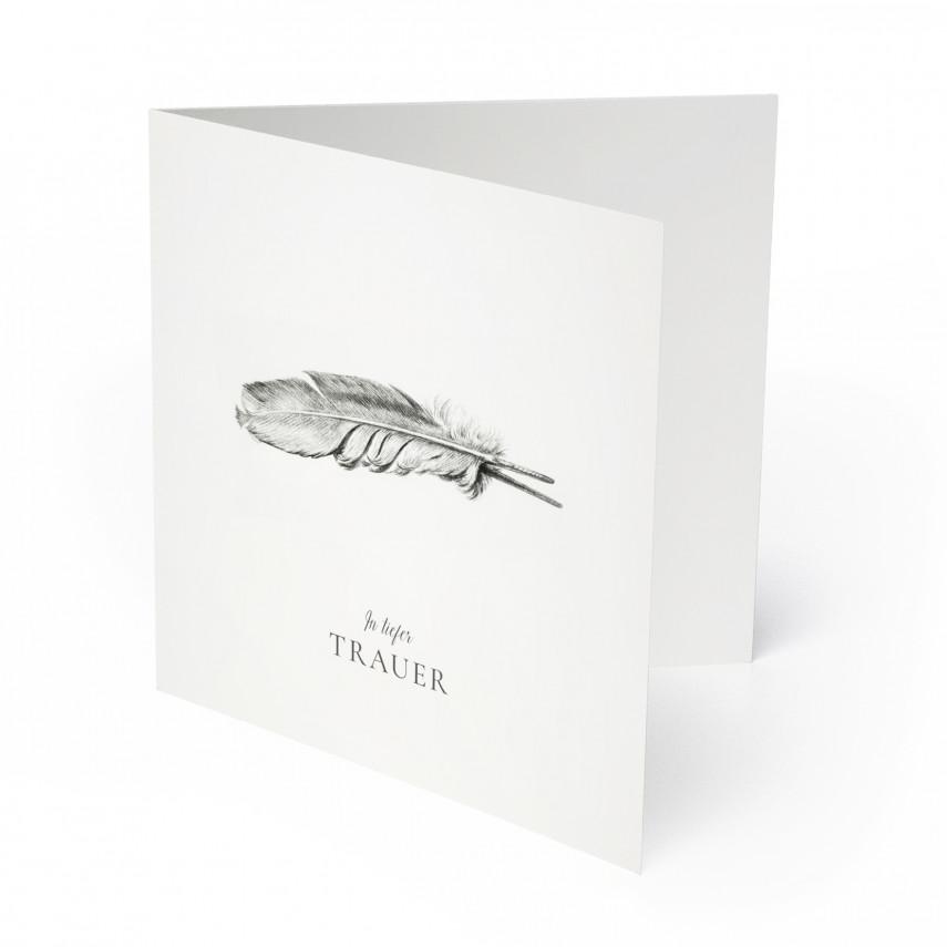 Trauerkarten - Feder