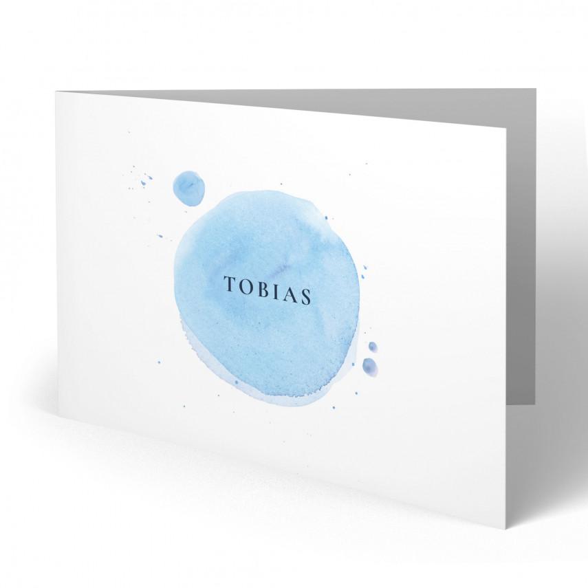 Einladungskarten zur Taufe - Wasserfarbe