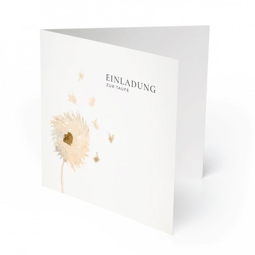 Einladungskarten zur Taufe - Pusteblume