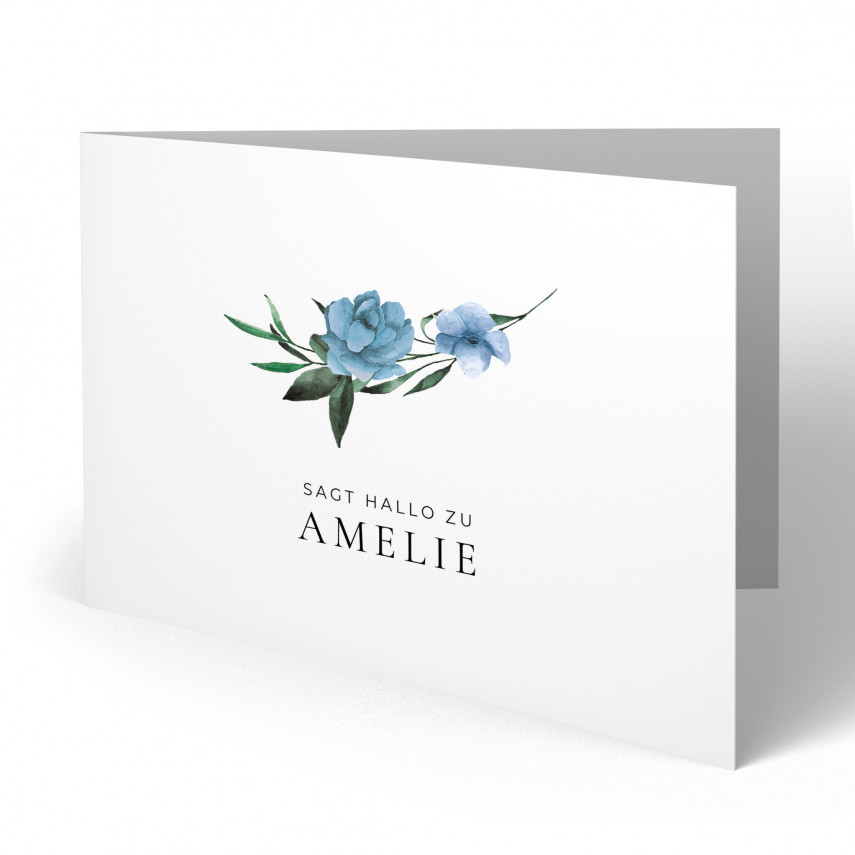 Geburtskarten - Blumen für Mädchen