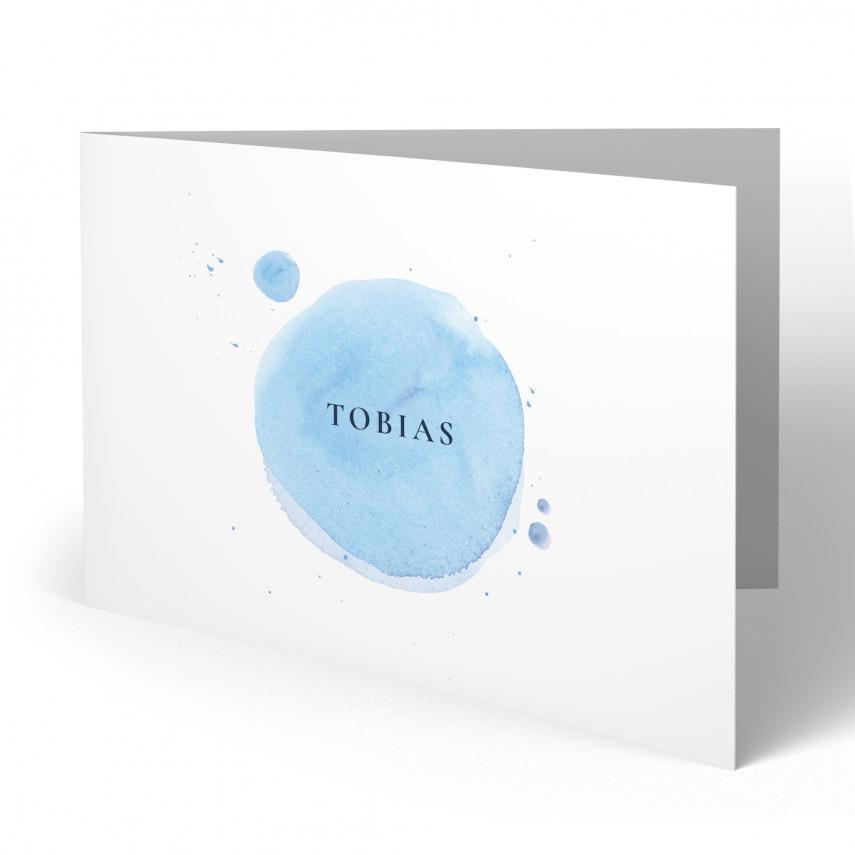 Geburtskarten - Wasserfarben für Jungen