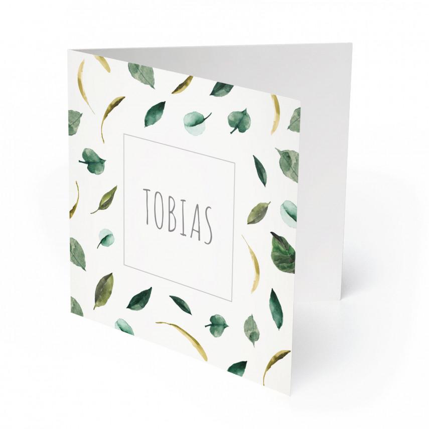 Geburtskarten - Blätter für Jungen