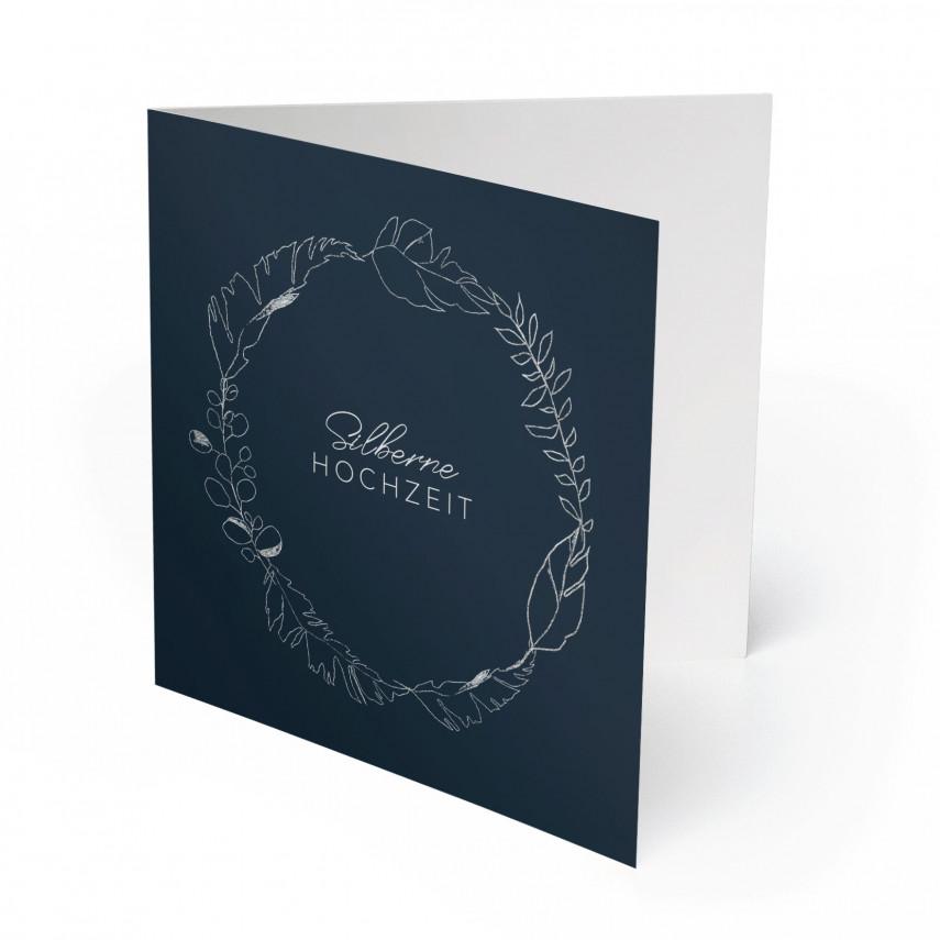Hochzeitseinladungen Silberne Hochzeit - Silberner Kranz