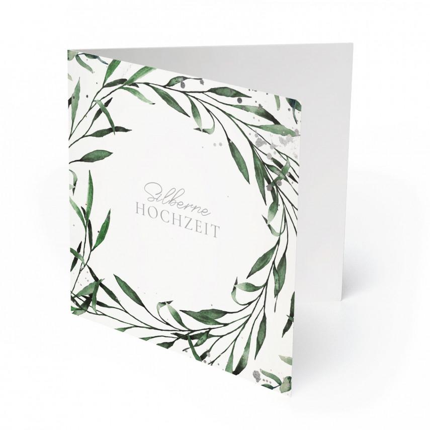 Hochzeitseinladungen Silberne Hochzeit - Silberner Farn