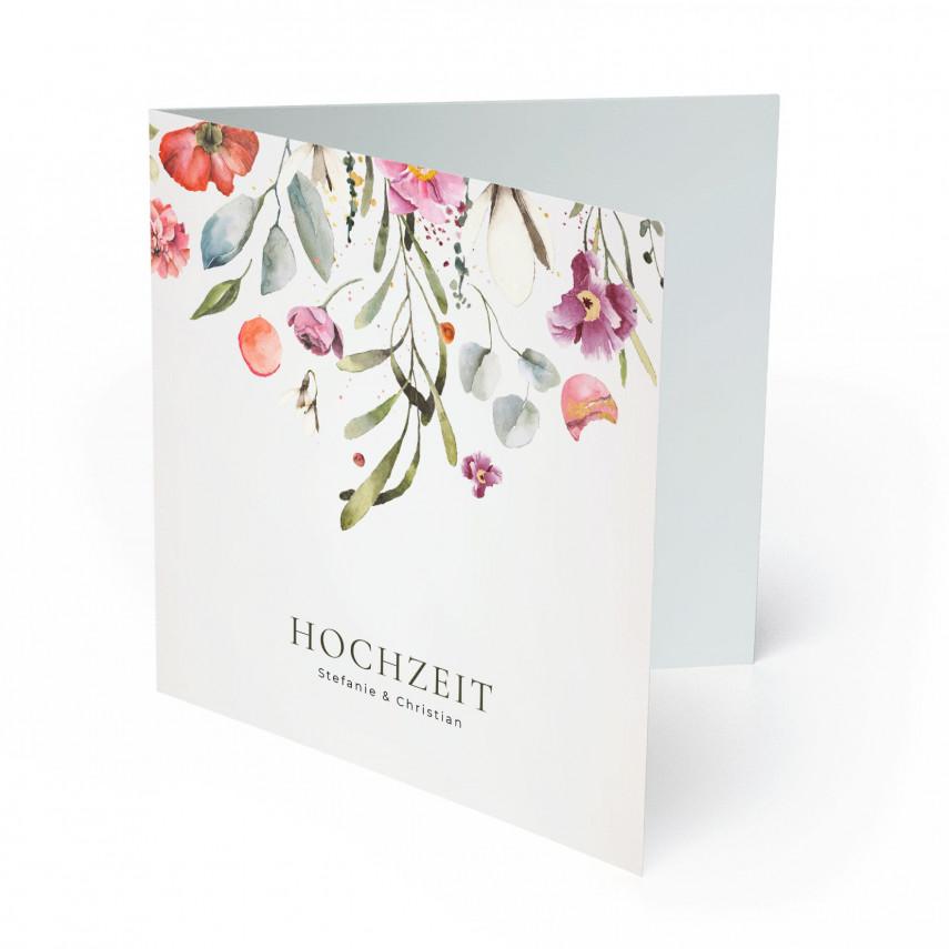 Einladungen zur Hochzeit - Blumenregen