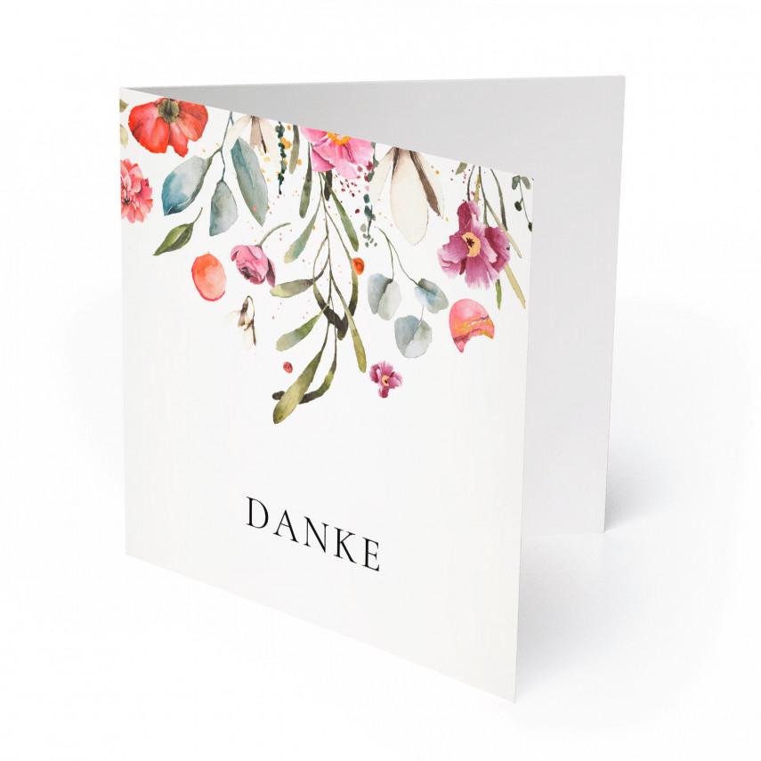Hochzeit Dankeskarten - Blumenregen