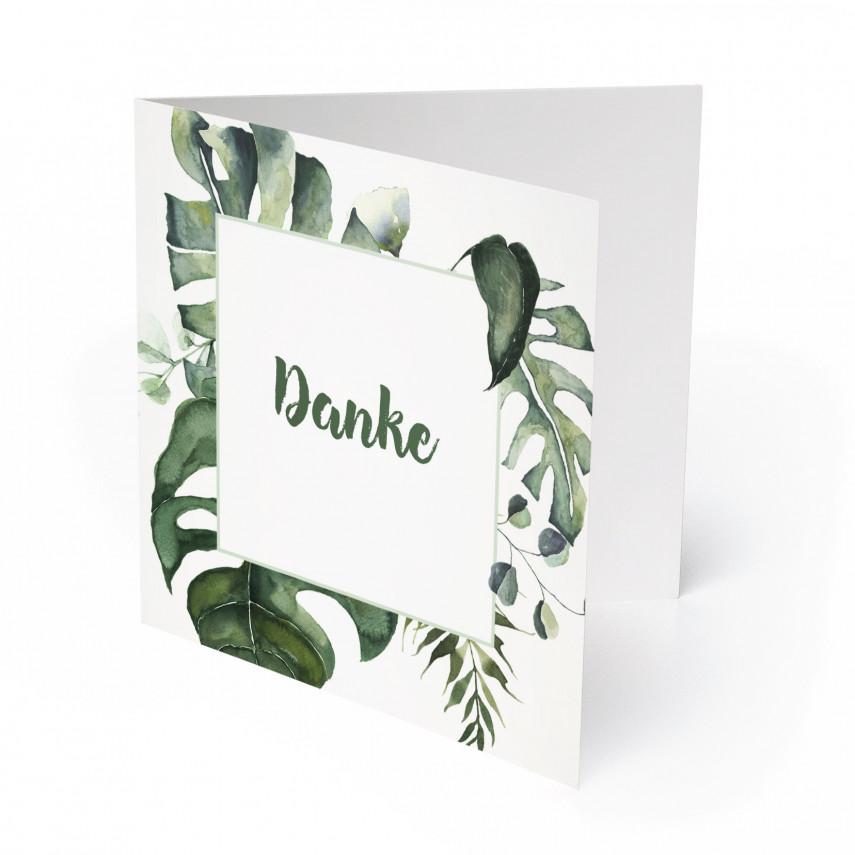 Hochzeit Dankeskarten - Dschungel