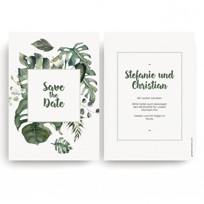 Save the Date Karten zur Hochzeit - Dschungel