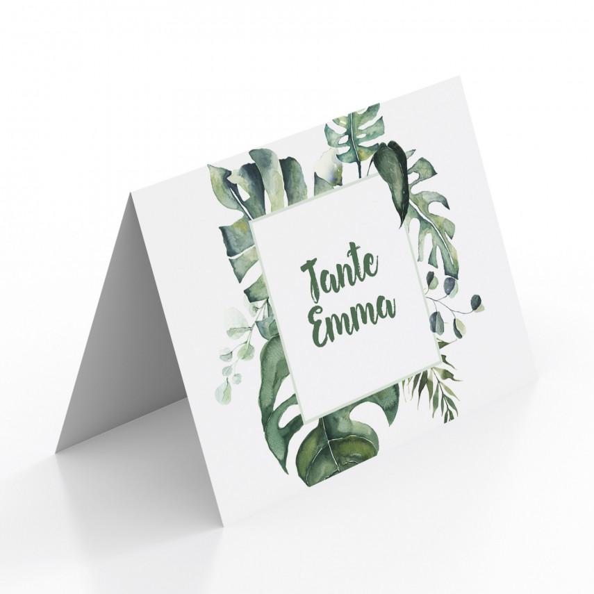 Tischkarten zur Hochzeit - Dschungel