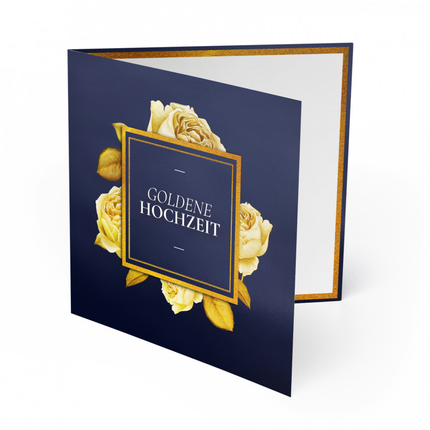 Hochzeitseinladungen Goldene Hochzeit - Rosen