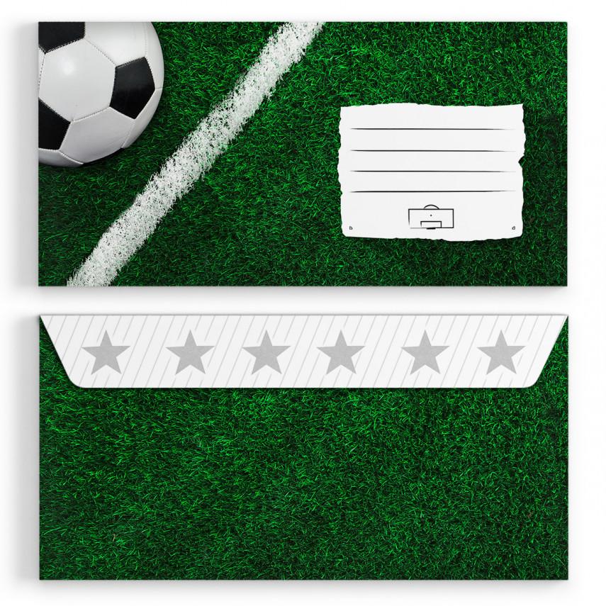 Briefumschläge - Fussball - DIN Lang