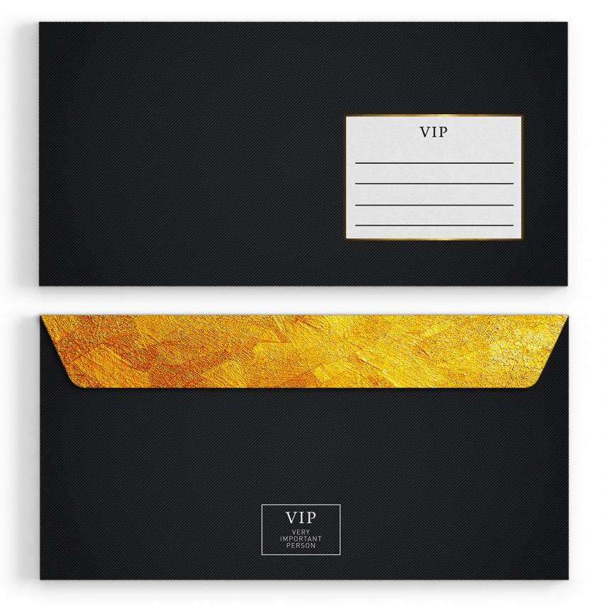Briefumschläge - VIP Gold - DIN Lang