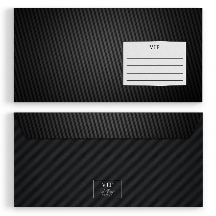 Briefumschläge - VIP Silber - DIN Lang
