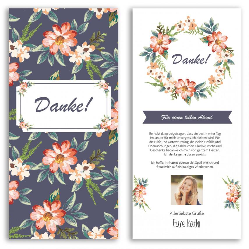 Danksagungskarten - Blumen