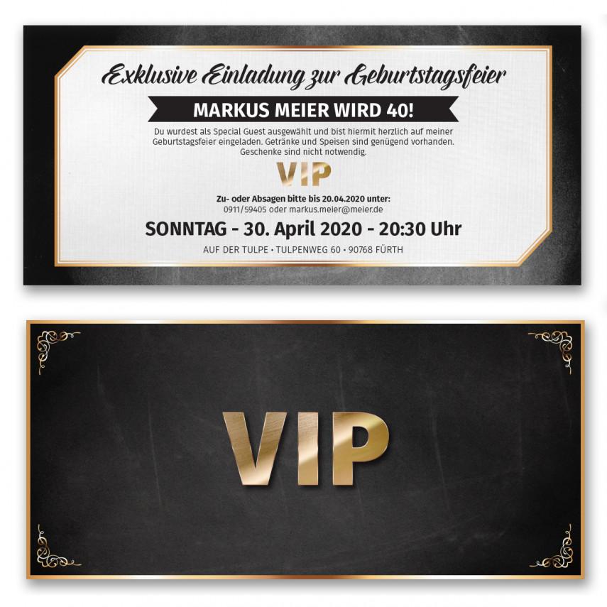 Einladungskarten als VIP-Ticket
