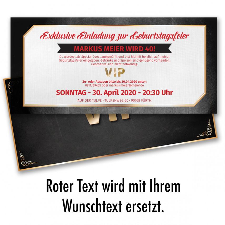 einladungskarten als vip-ticket online gestalten