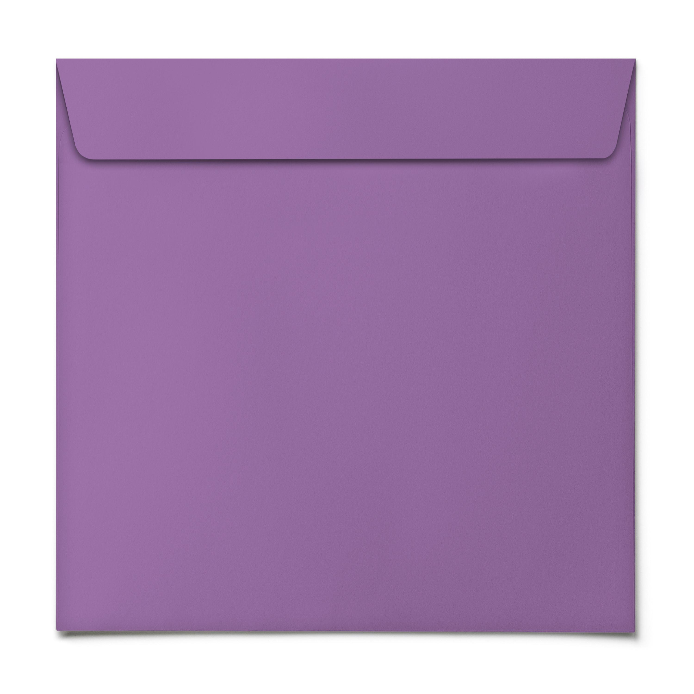 Briefumschläge - Lila - quadratisch online bestellen