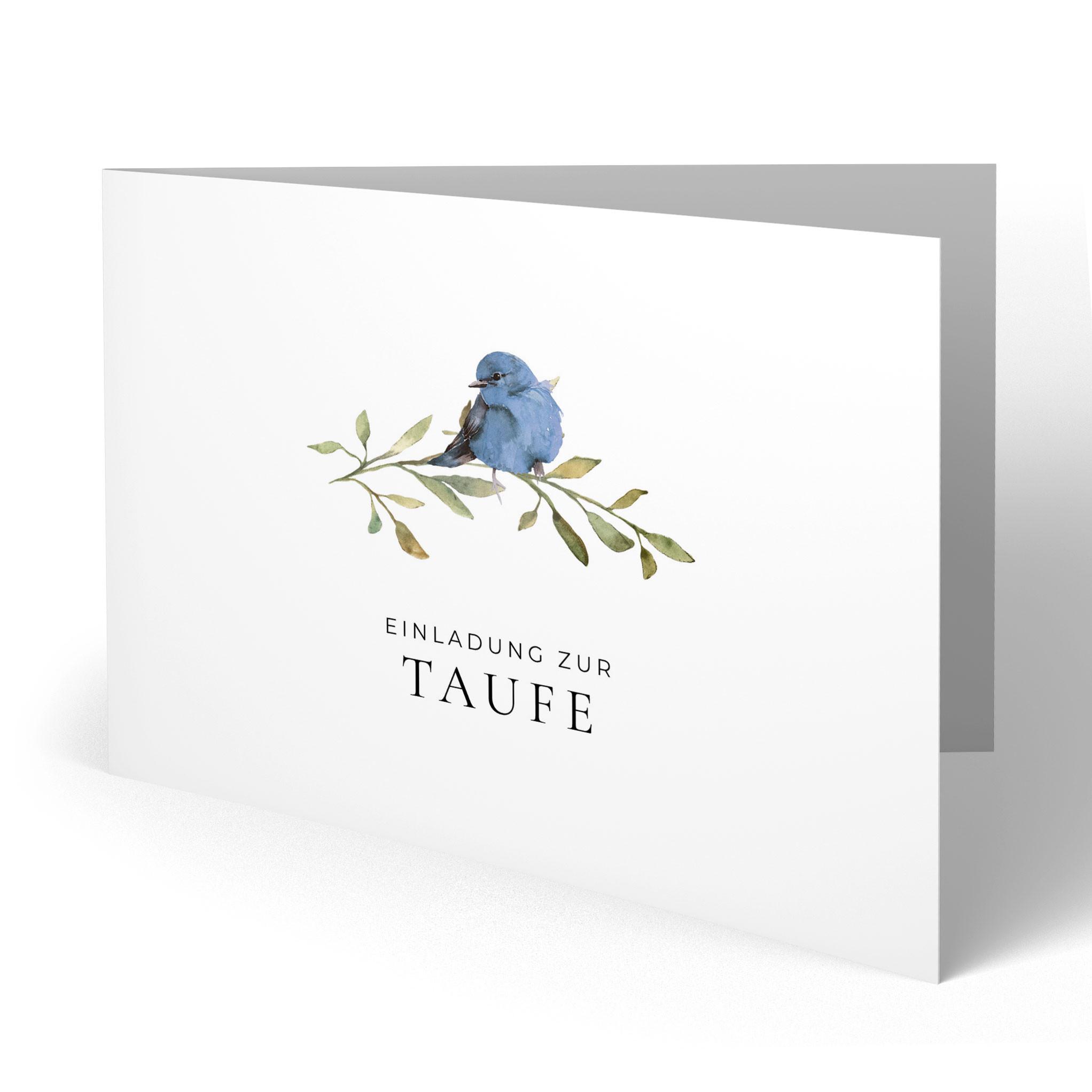 einladungskarten zur taufe - vogel