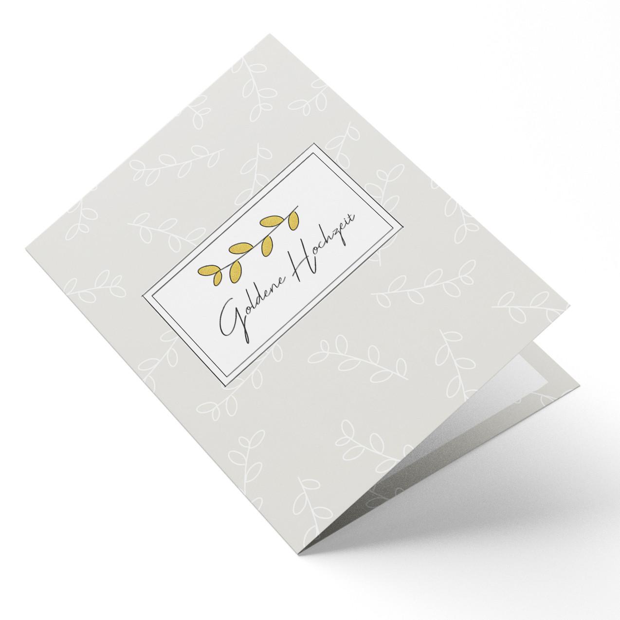 Hochzeitskarten Goldene Hochzeit Zweig