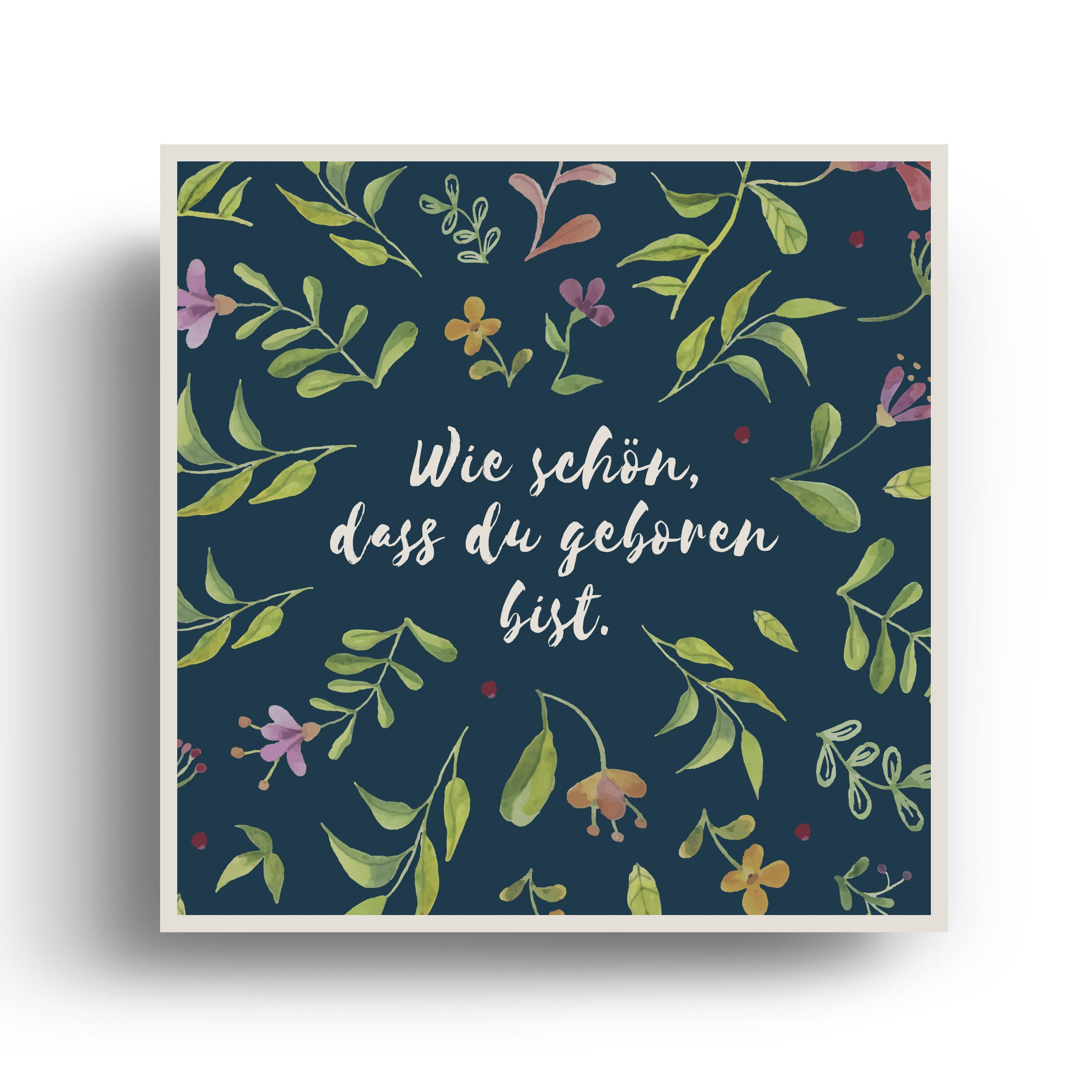 Geburtskarten Blumen Für Mädchen