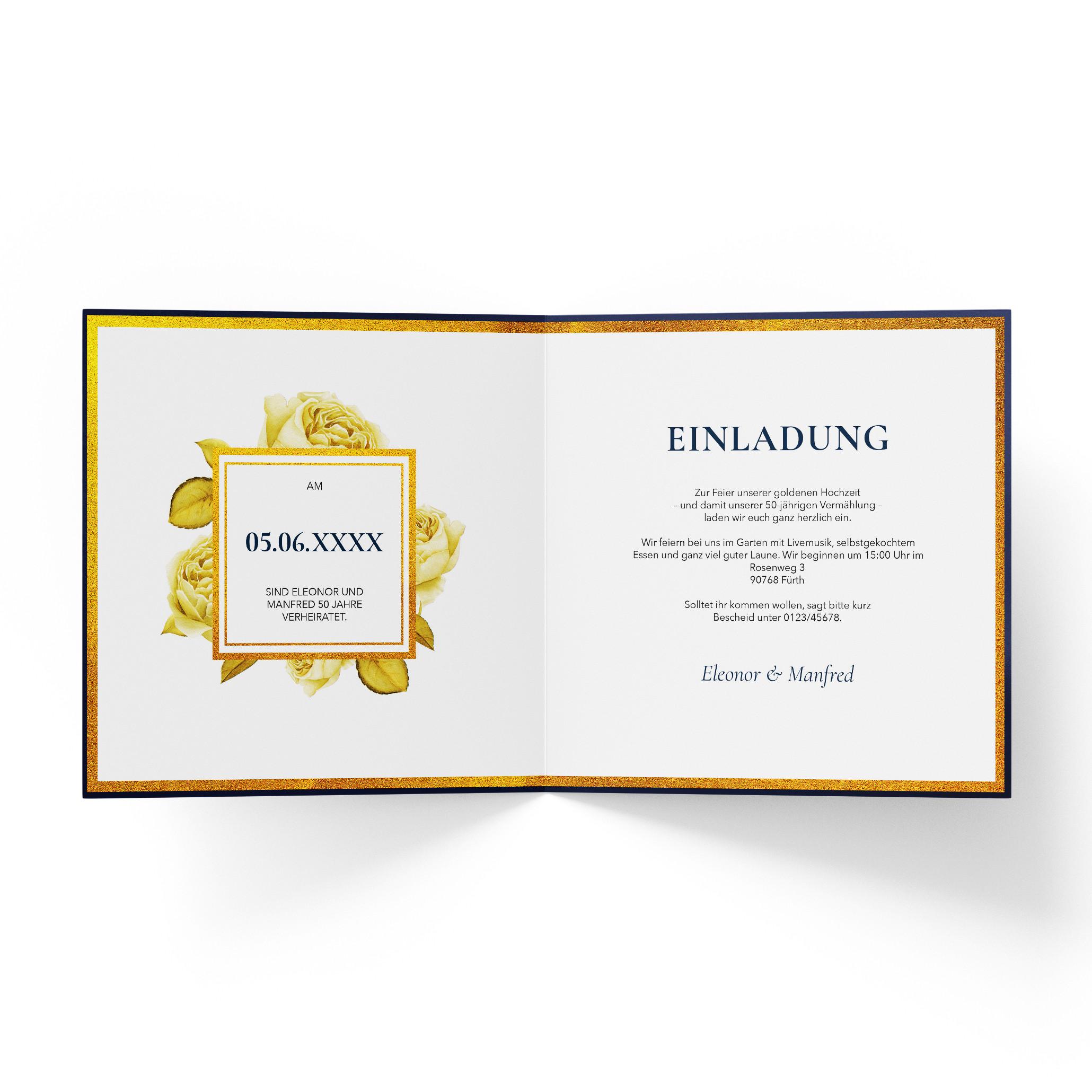 Einladungskarten zur goldenen hochzeit