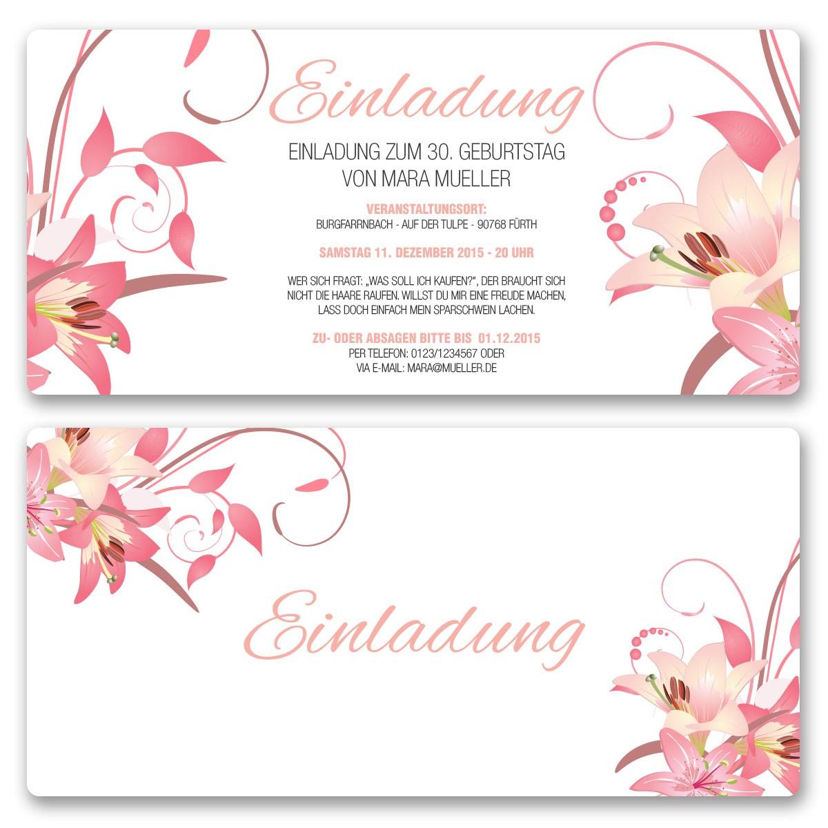 Einladungsvordrucke